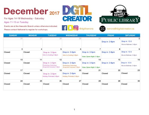 December Calendar Digital Creator -page -001
