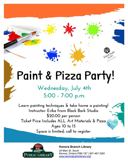 Paint And Pizza Party 2018